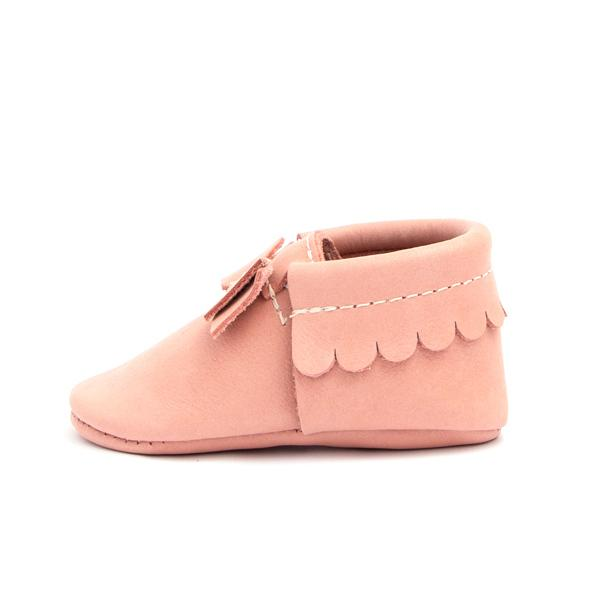 Papaya Bow Moccasins - Freshly Picked - joannas-cuties