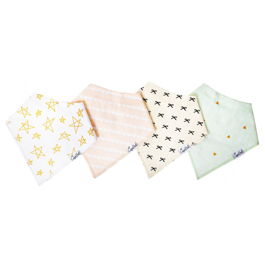 Paris Baby Bandana Bib Set - Copper Pearl - joannas-cuties