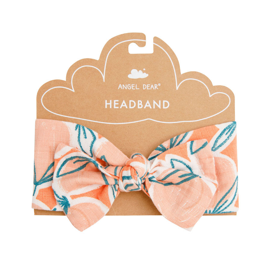 Peachy Headband Cantaloupe-Angel Dear-Joanna's Cuties