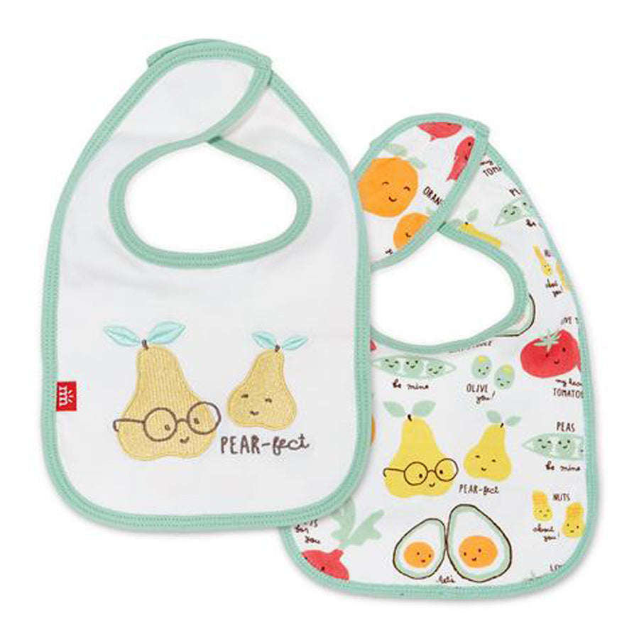 Perfect Puns Organic Cotton Magnetic Reversible Bib-Magnetic Me-Joanna's Cuties