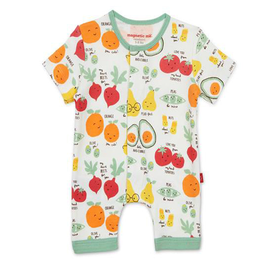 Perfect Puns Organic Cotton Magnetic Romper-Magnetic Me-Joanna's Cuties