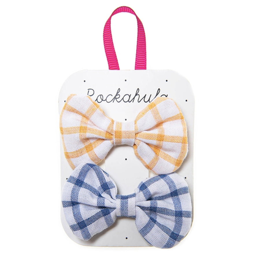 Picnic Check Bow Clips-Rockahula Kids-Joanna's Cuties