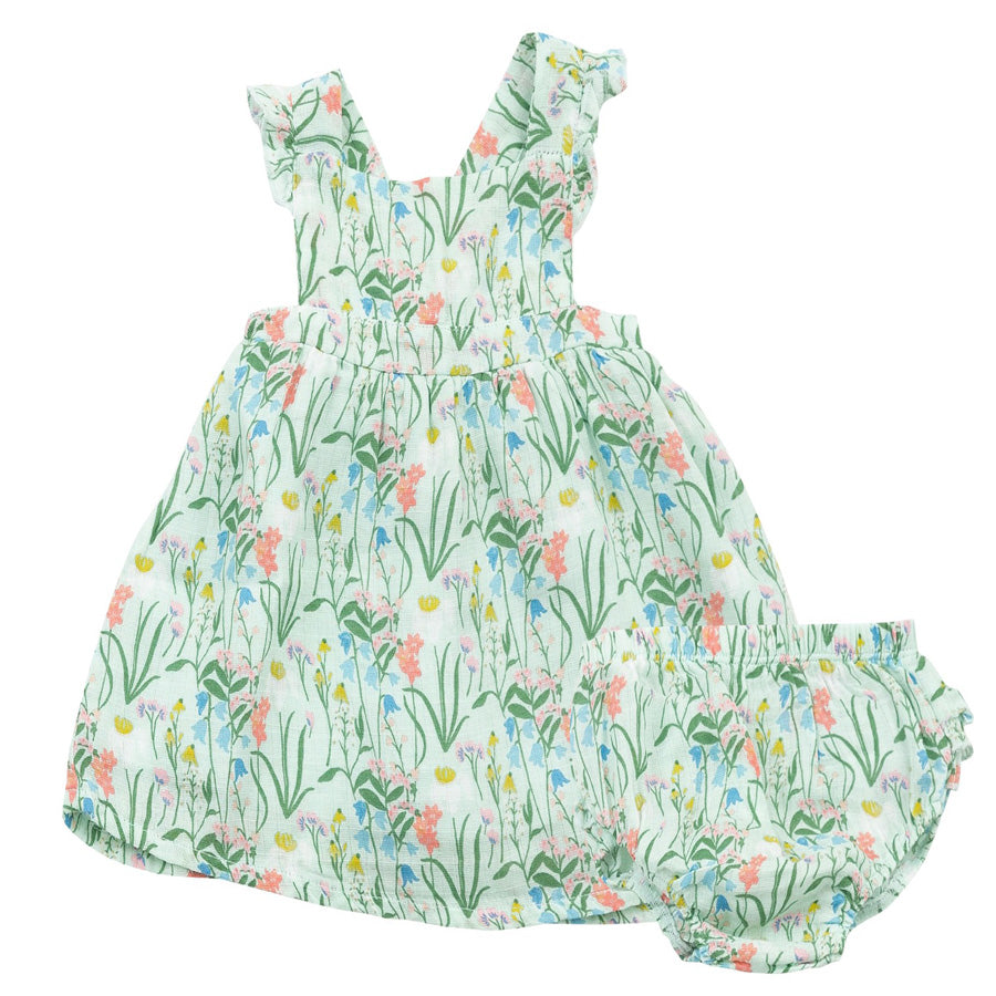 Ruffle Pinafore Top And Bloomers - Summer Morning-Angel Dear-Joanna's Cuties