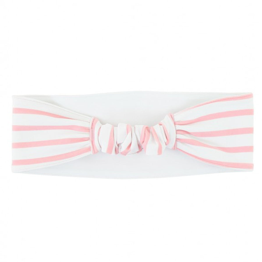 Pink Stripe Swimwear Headband-Ruffle Butts-Joanna's Cuties