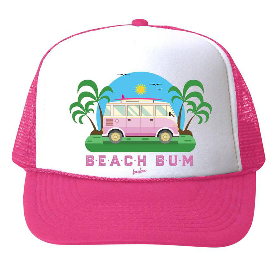 Beach Bum Hat - Pink - Bubu - joannas-cuties