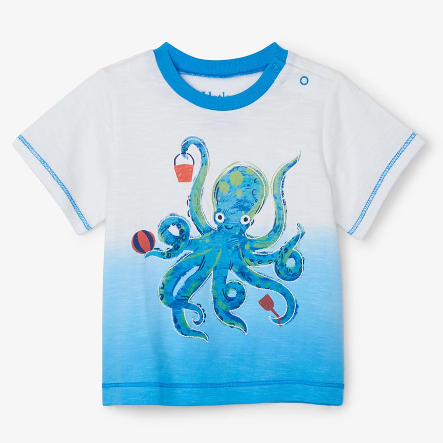 Playful Octopus Baby Graphic Tee