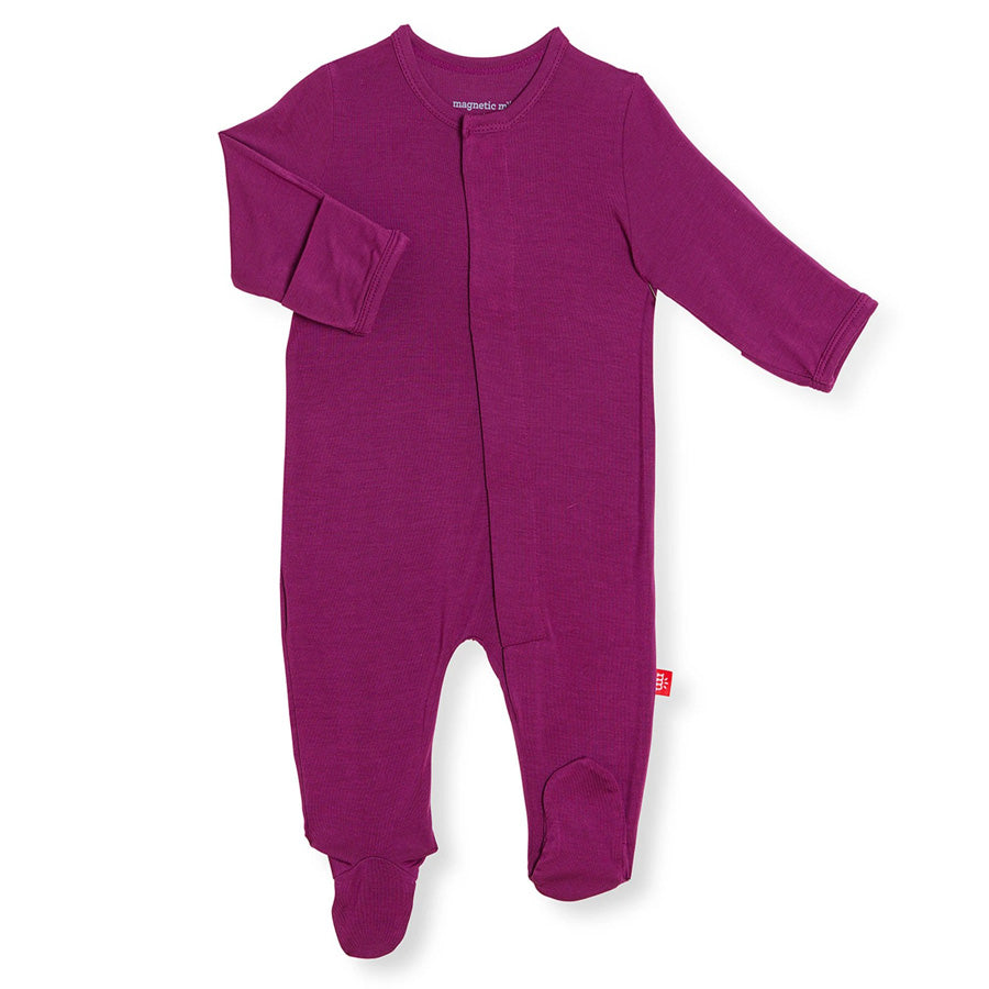 Plum Solid Modal Magnetic Footie-Magnetic Me-Joanna's Cuties