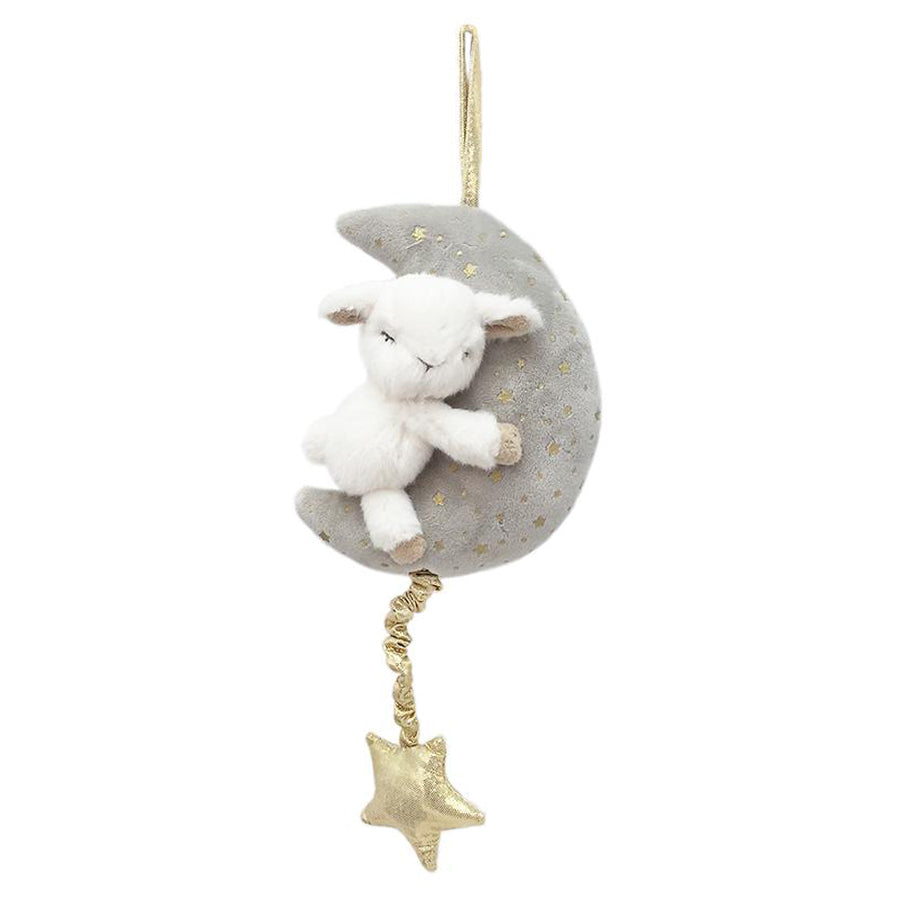 Plush Lamb And Moon Musical Mobile-Mon Ami-Joanna's Cuties