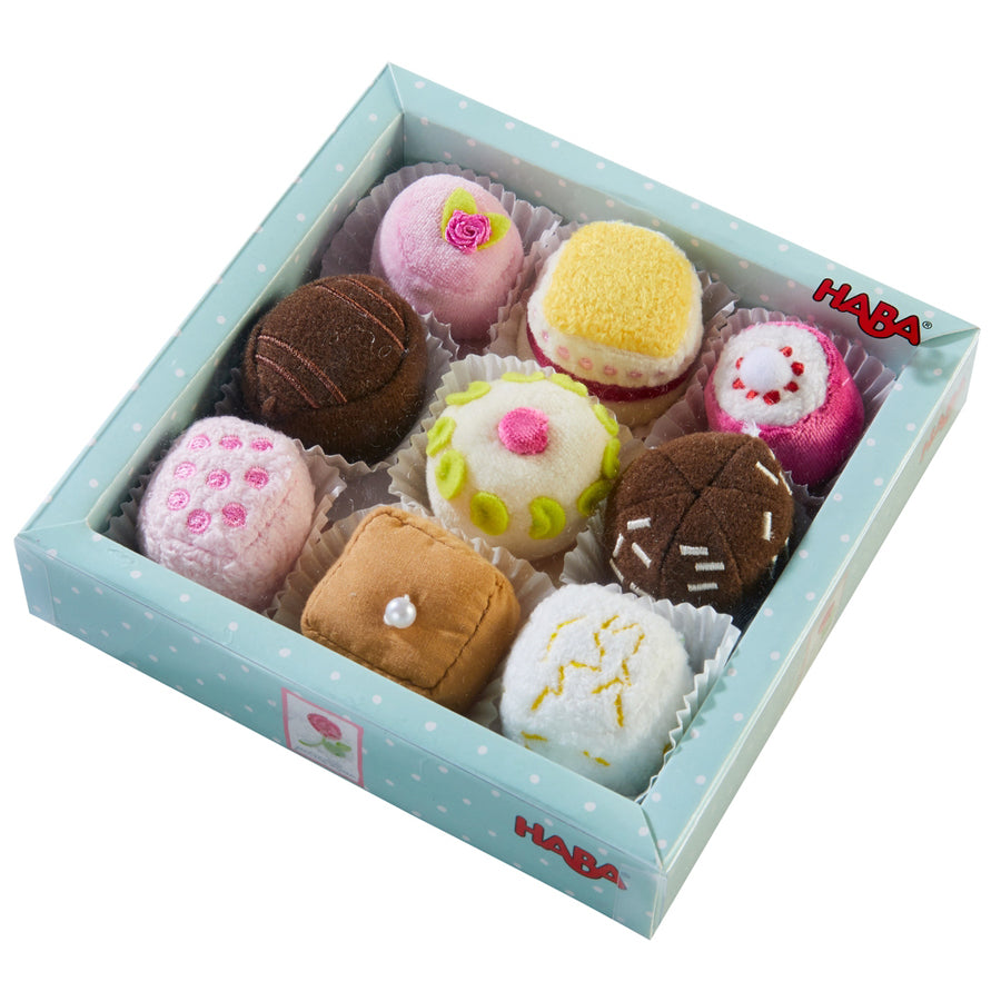 Biofino Soft Petit Fours Set Of 9 Plush Desserts - Perfect For Pretend Tea Parties-Haba-Joanna's Cuties