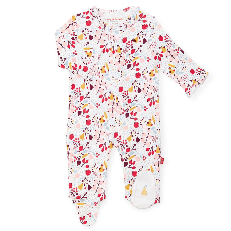 Pom Pom Organic Cotton Magnetic Footie-Magnetic Me-Joanna's Cuties