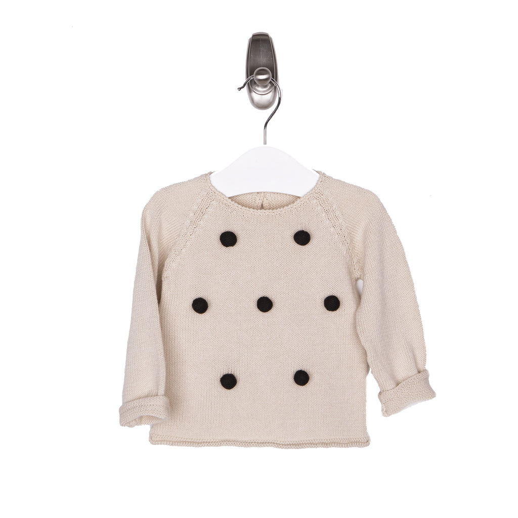 Pompom Sweater - Natural - Tun Tun - joannas-cuties