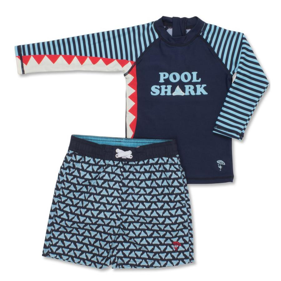 Pool Shark Rashguard Set, Shade Critters - Joanna's Cuties