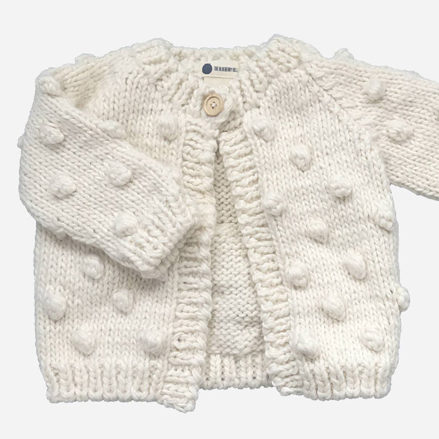 Popcorn Cardigan - Cream-The Blueberry Hill-Joanna's Cuties