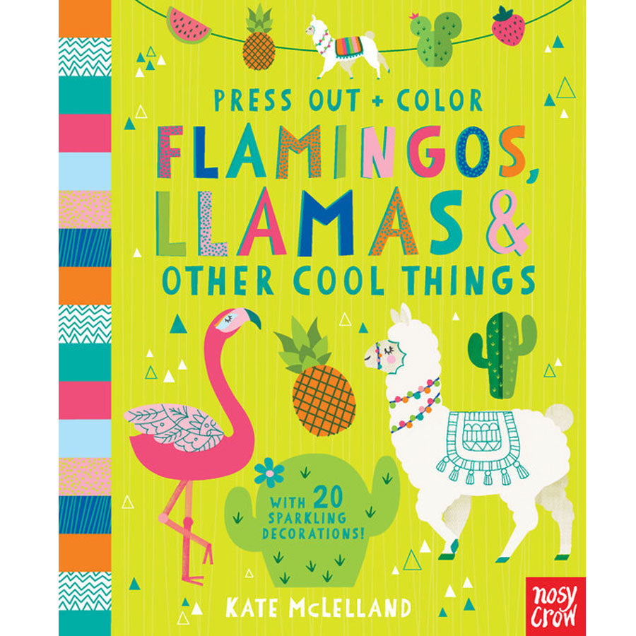 Press Out and Color: Flamingos, Llamas & Other Cool Things - Book-Penquin Random House-Joanna's Cuties