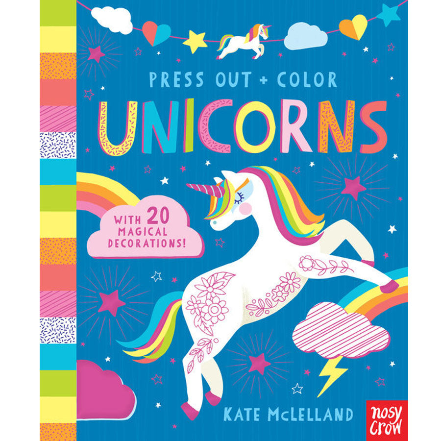 Press Out and Color: Unicorns-Penquin Random House-Joanna's Cuties