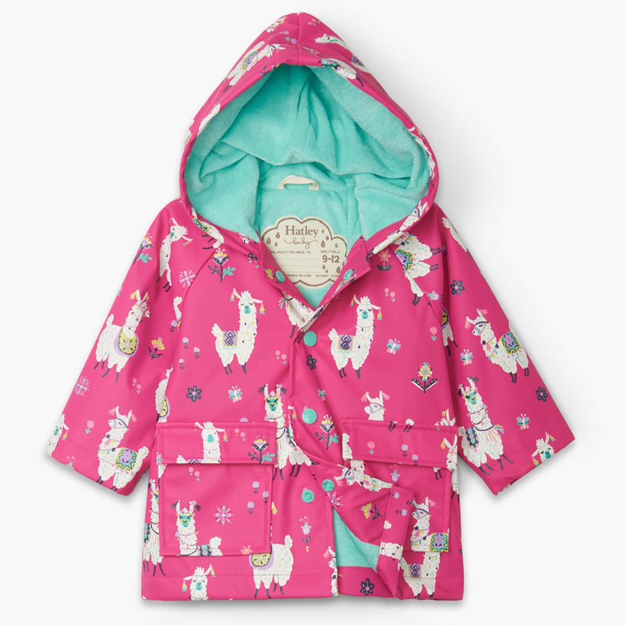 Pretty Alpacas Baby Raincoat-Hatley-Joanna's Cuties