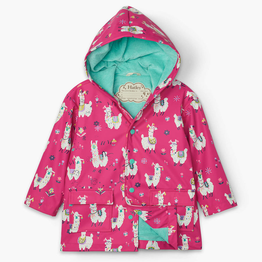 Pretty Alpacas Raincoat-Hatley-Joanna's Cuties
