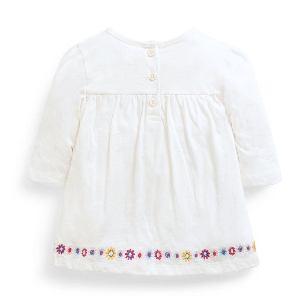 Pretty Embroidered Tunic - JoJo Maman Bebe - joannas-cuties