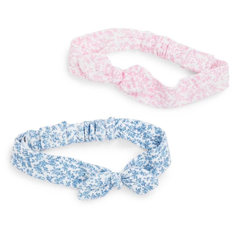 Pretty Floral Baby Head Bands 2-Pack - JoJo Maman Bebe - joannas-cuties