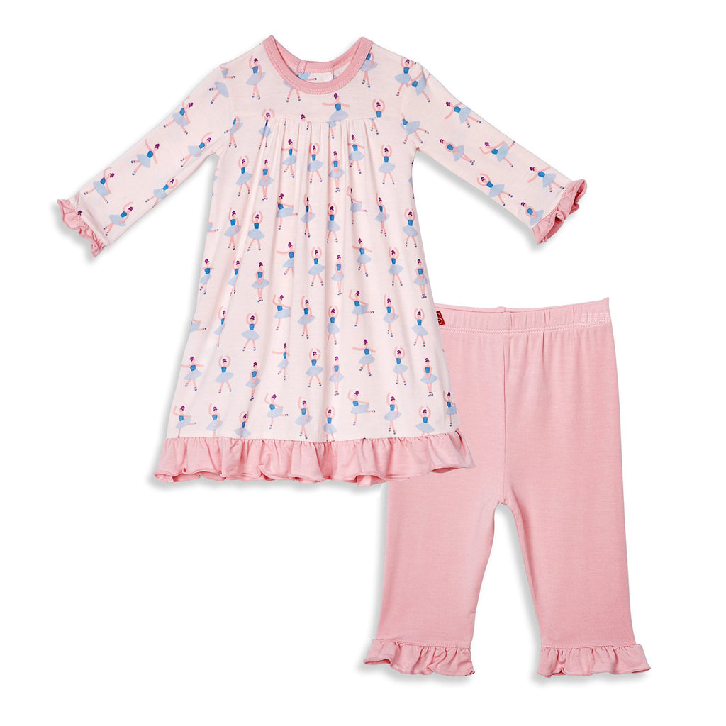 Prima Ballerina Modal Magnetic Dress Set With Pants - Magnetic Me - joannas-cuties