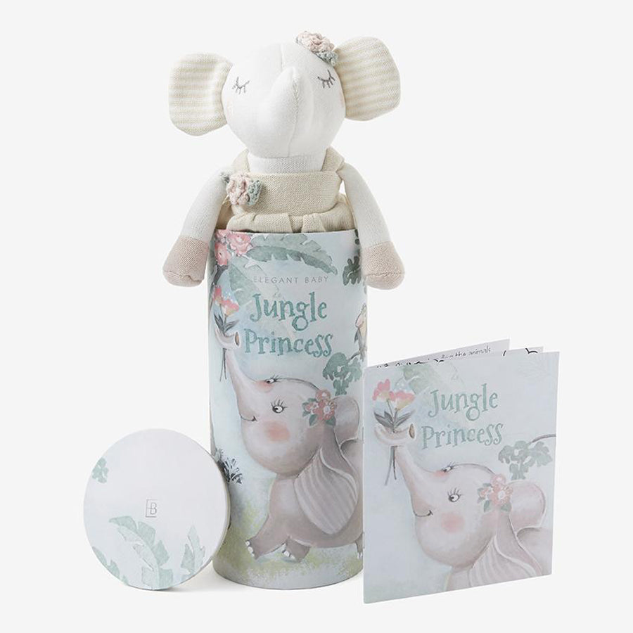 Princess Elephant Baby Knit Toy With Gift Box-Elegant Baby-Joanna's Cuties