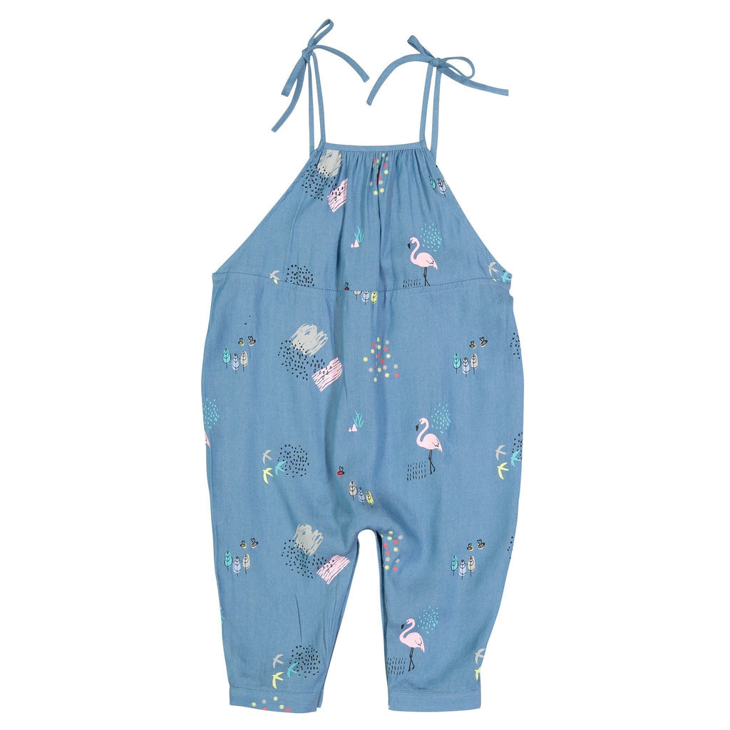 Printed Denim Baby Jumper - Andy & Evan - joannas-cuties