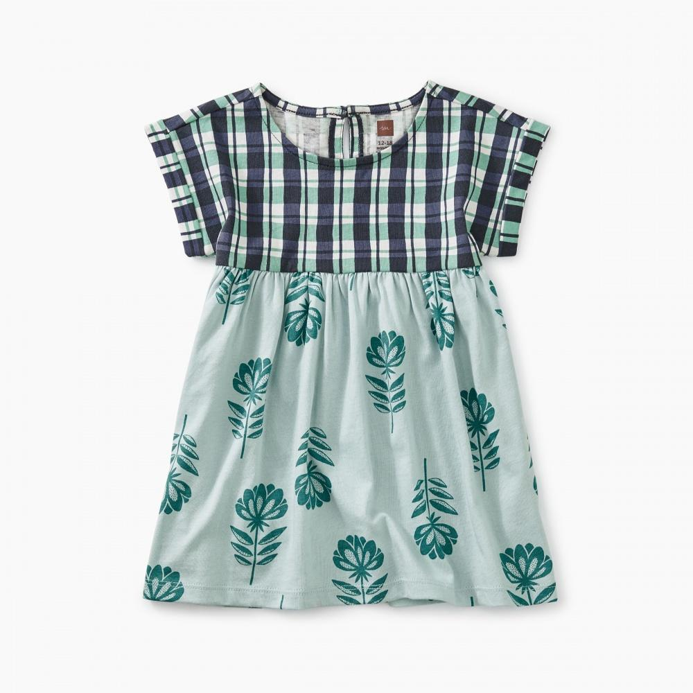 Printed Empire Baby Dress-Tea-joannas_cuties