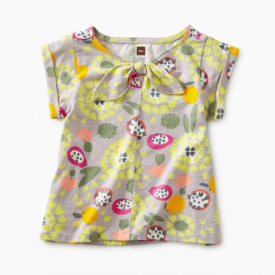 Printed Knotted Baby Top - Tea - joannas-cuties