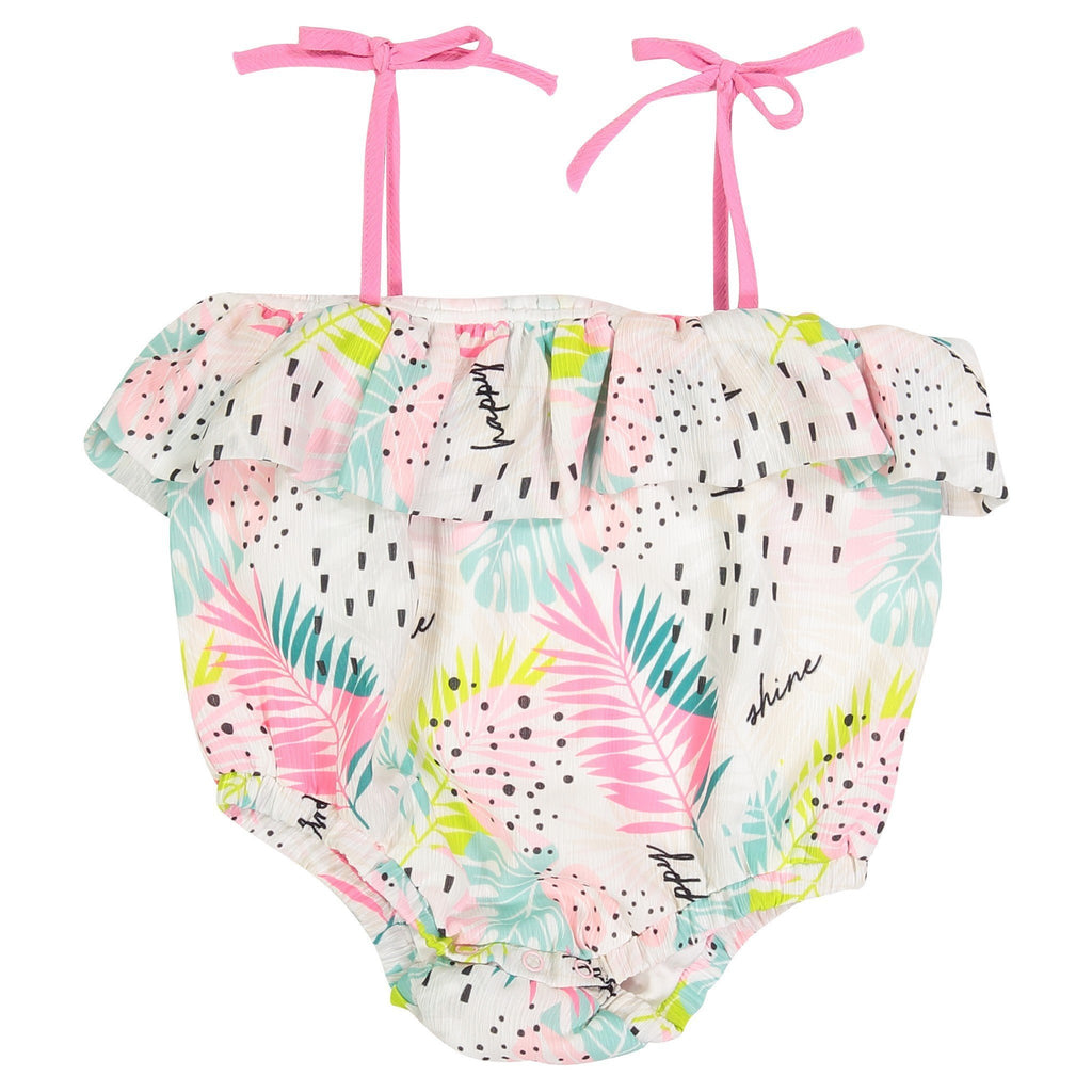 Printed Palm Bubble Suit - Andy & Evan - joannas-cuties
