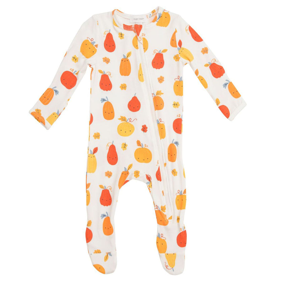 Pumpkin Patch Zipper Footie-Angel Dear-Joanna's Cuties