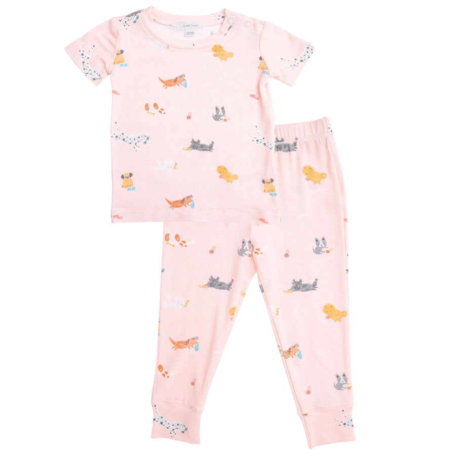 Puppy Play Lounge Wear Set - Pink-Angel Dear-Joanna's Cuties