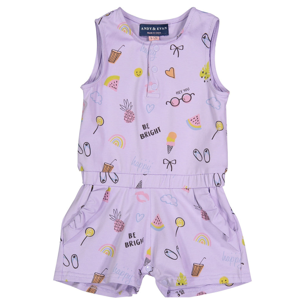 Purple Baby Summer Romper - Andy & Evan - joannas-cuties