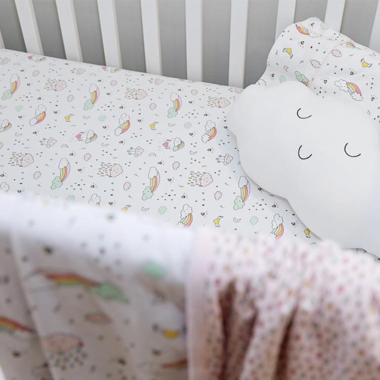 Rainbow Crib Sheet-Noomie-Joanna's Cuties