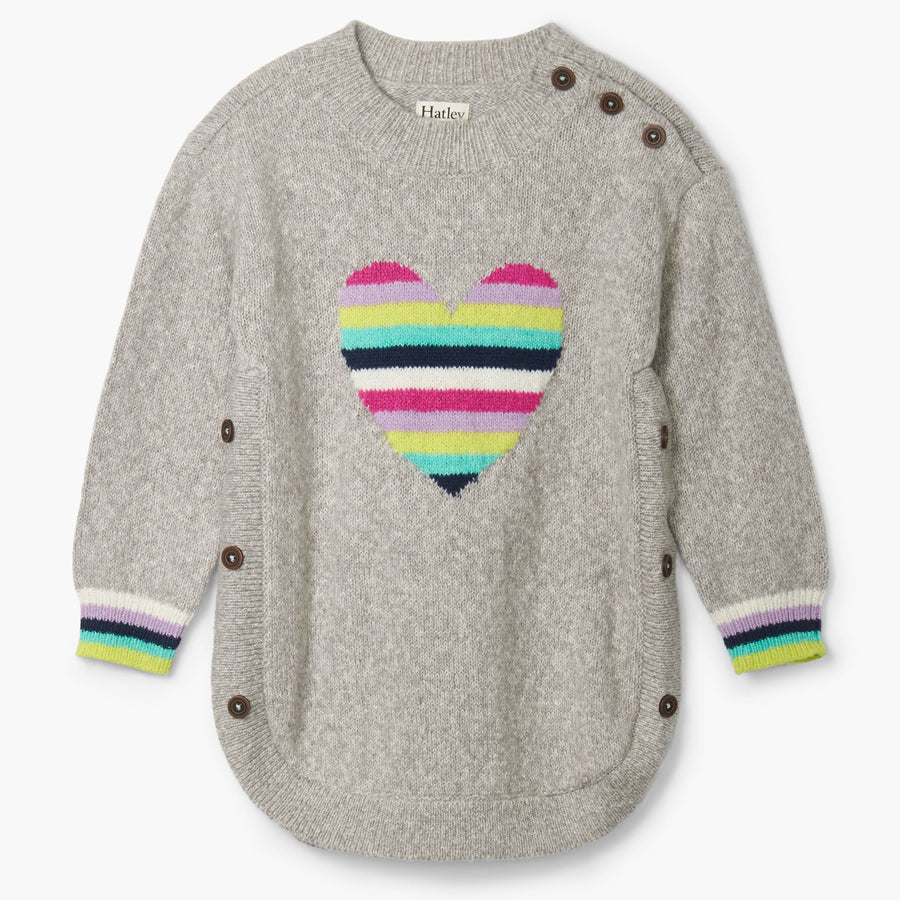Rainbow Heart Chunky Sweater-Hatley-Joanna's Cuties