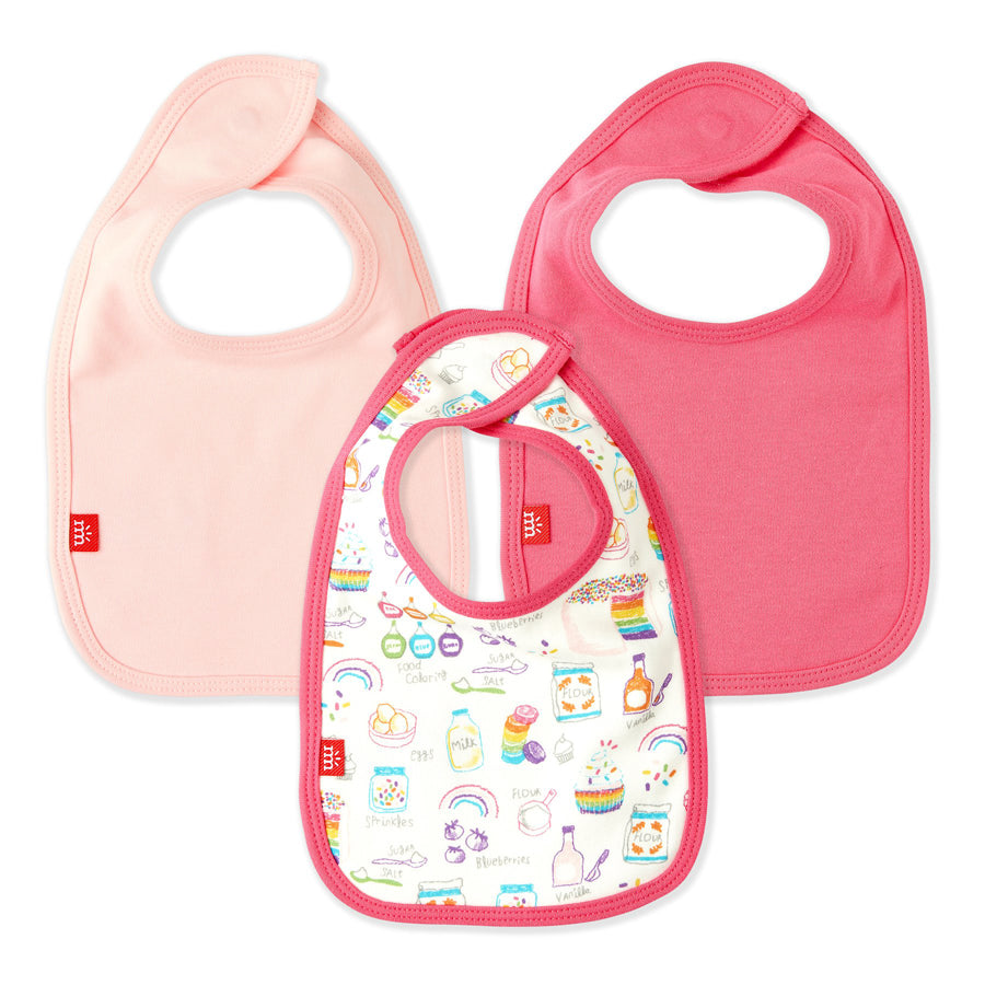 Rainbow Sprinkles Organic Cotton Magnetic 3 Pack Bibs-Magnetic Me-Joanna's Cuties