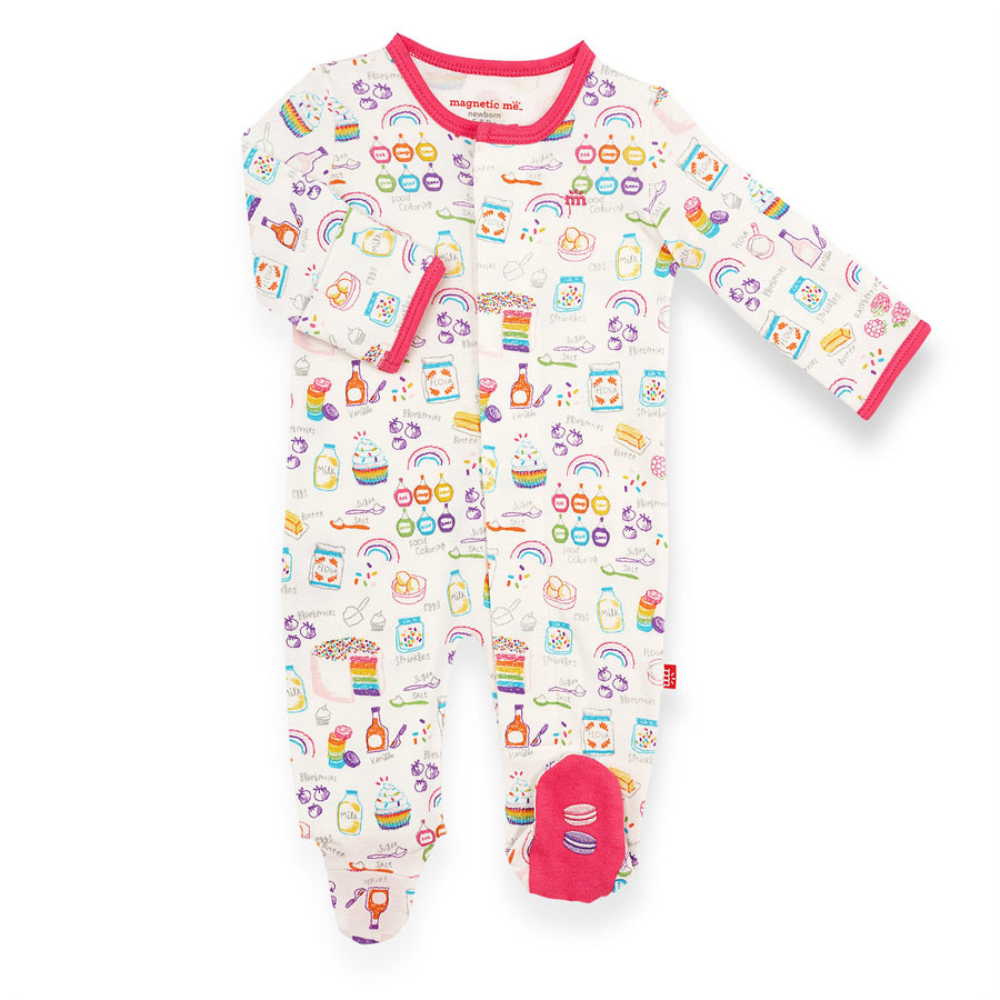 Rainbow Sprinkles Organic Cotton Magnetic Footie-Magnetic Me-Joanna's Cuties