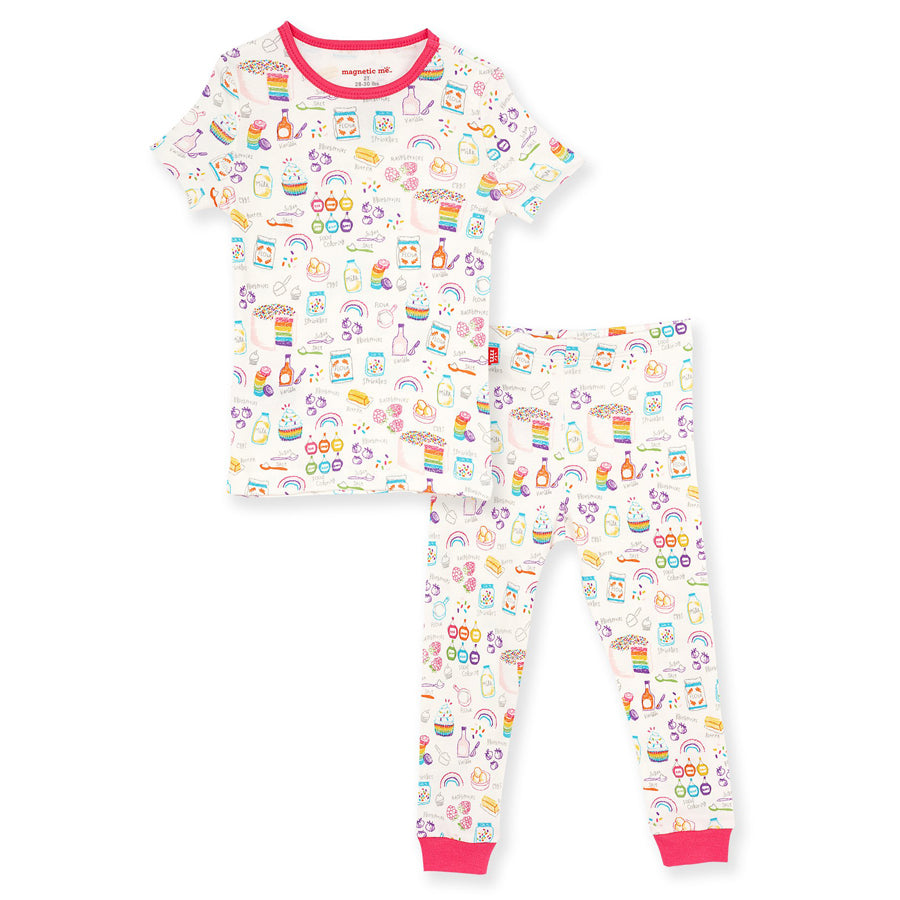 Rainbow Sprinkles Organic Cotton Magnetic Toddler Pajama Set-Magnetic Me-Joanna's Cuties
