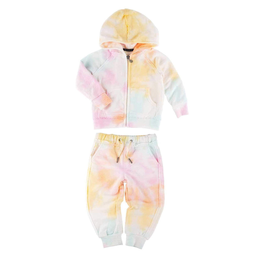 Rainbow Tie Dye Jogger And Hoodie Set-Miki Miette-Joanna's Cuties