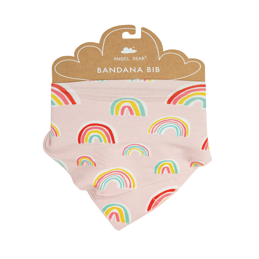 Rainbows Bandana Bib - Pink-Angel Dear-Joanna's Cuties