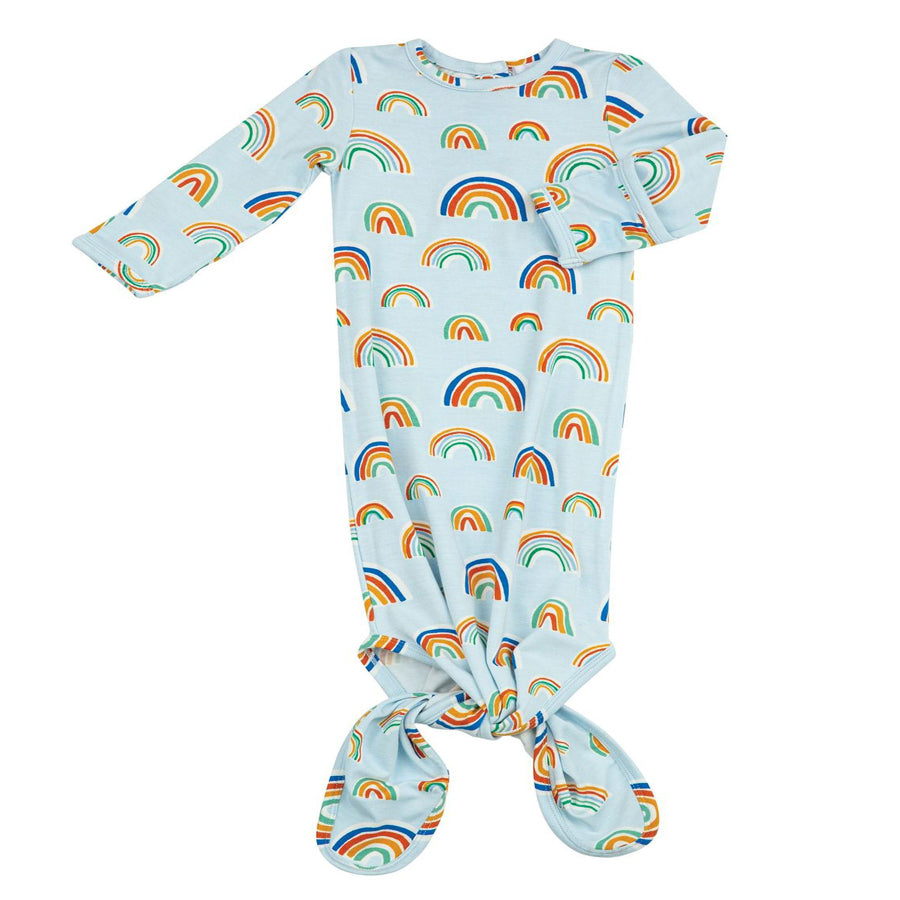Rainbows Gown Blue-Multi-Angel Dear-Joanna's Cuties