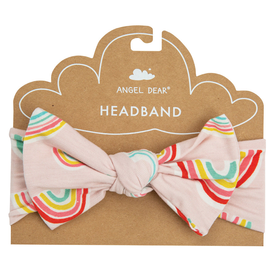 Rainbows Headband Pink-Angel Dear-Joanna's Cuties