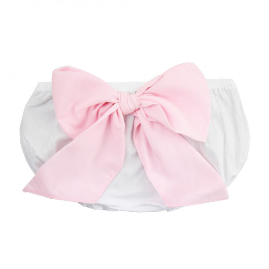 White Bow-Back Bloomer - Ruffle Butts - joannas-cuties