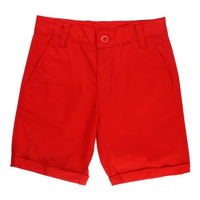 Red Cuffed Chino Shorts - Rugged Butts - joannas-cuties