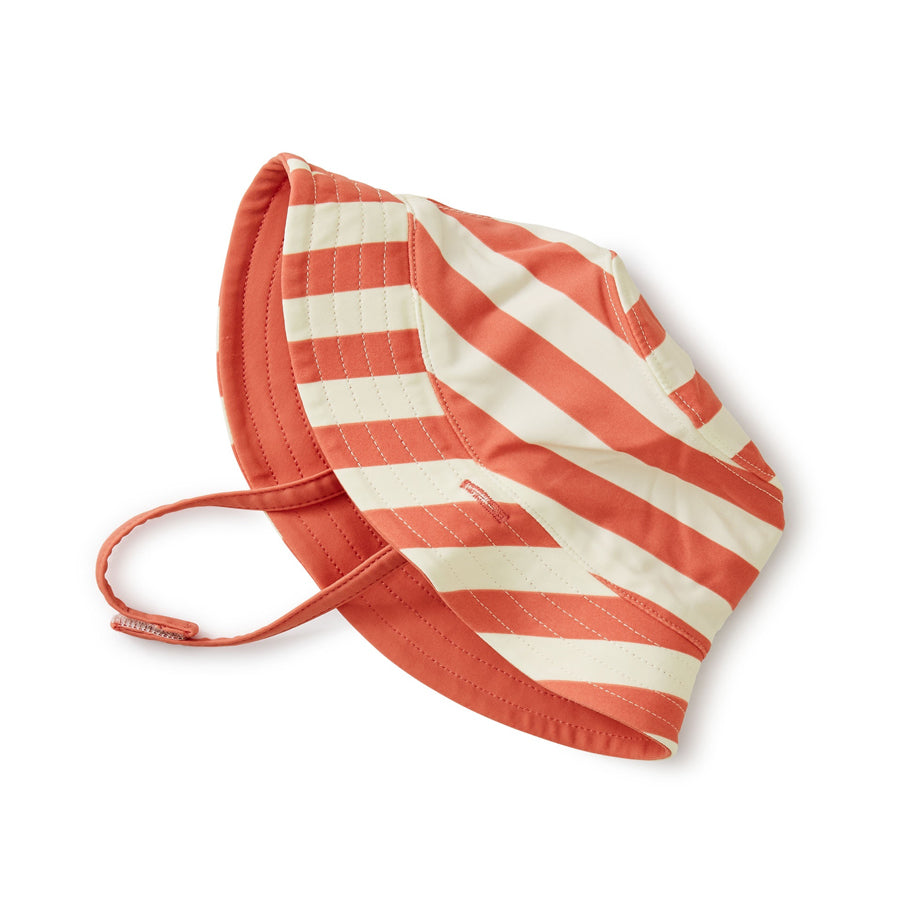 Reversible Sun Hat Stripe - Mauveglow-Tea-Joanna's Cuties