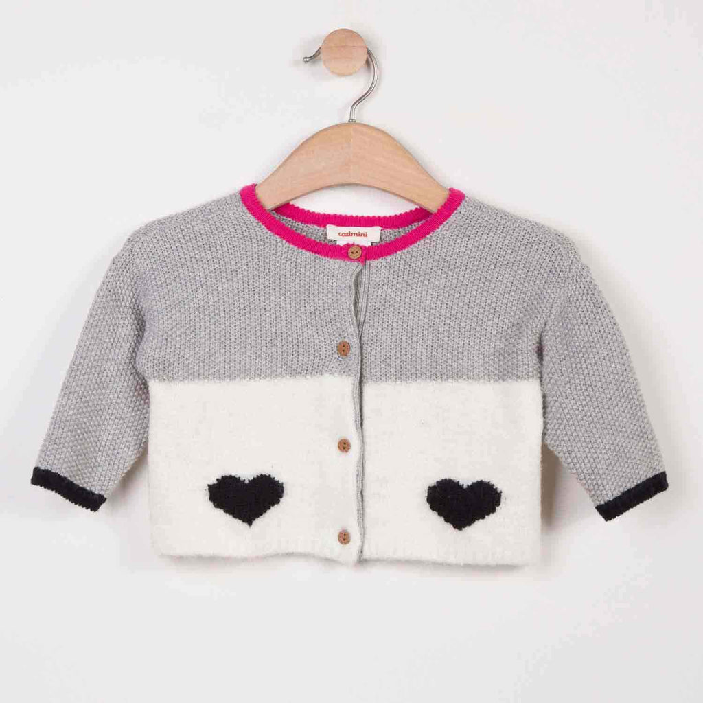 Reversible Woolly Cardigan With Charming Design - Catimini - joannas-cuties