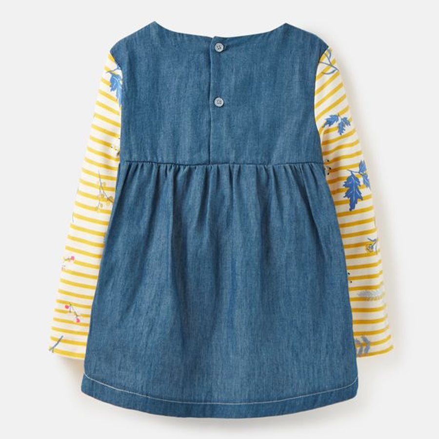 Ria Jersey - Woven Mix Top - Joules - joannas-cuties