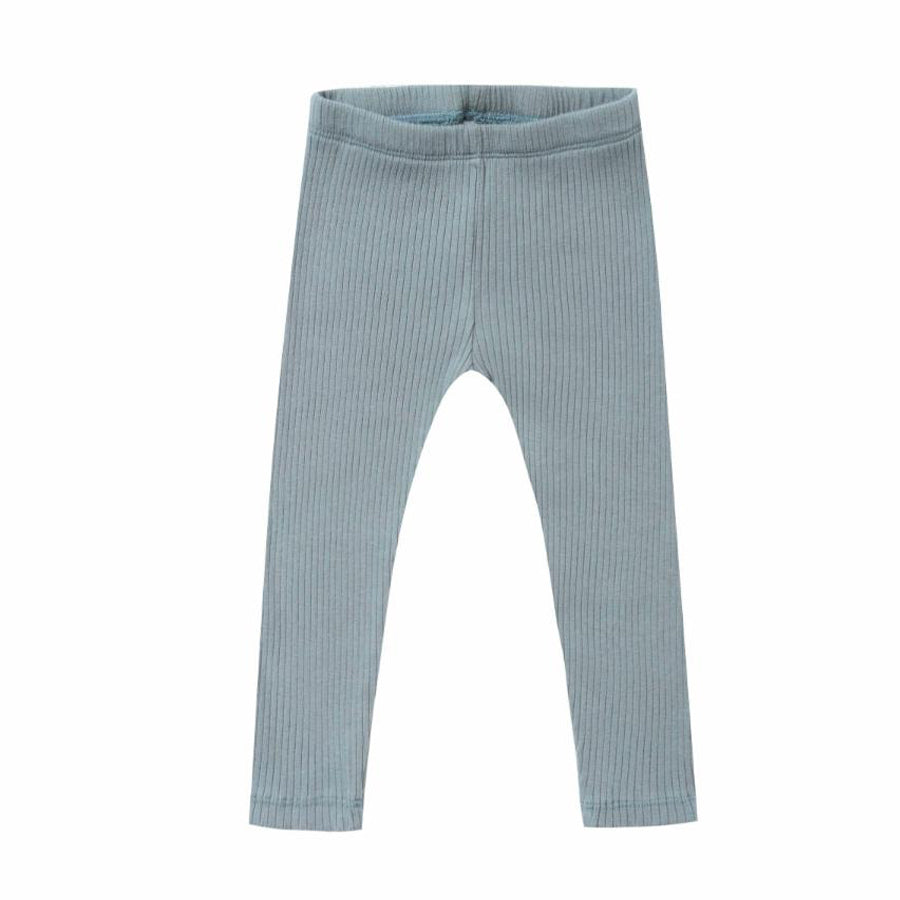 Ribbed Legging - Dusty Blue - Rylee + Cru - joannas-cuties