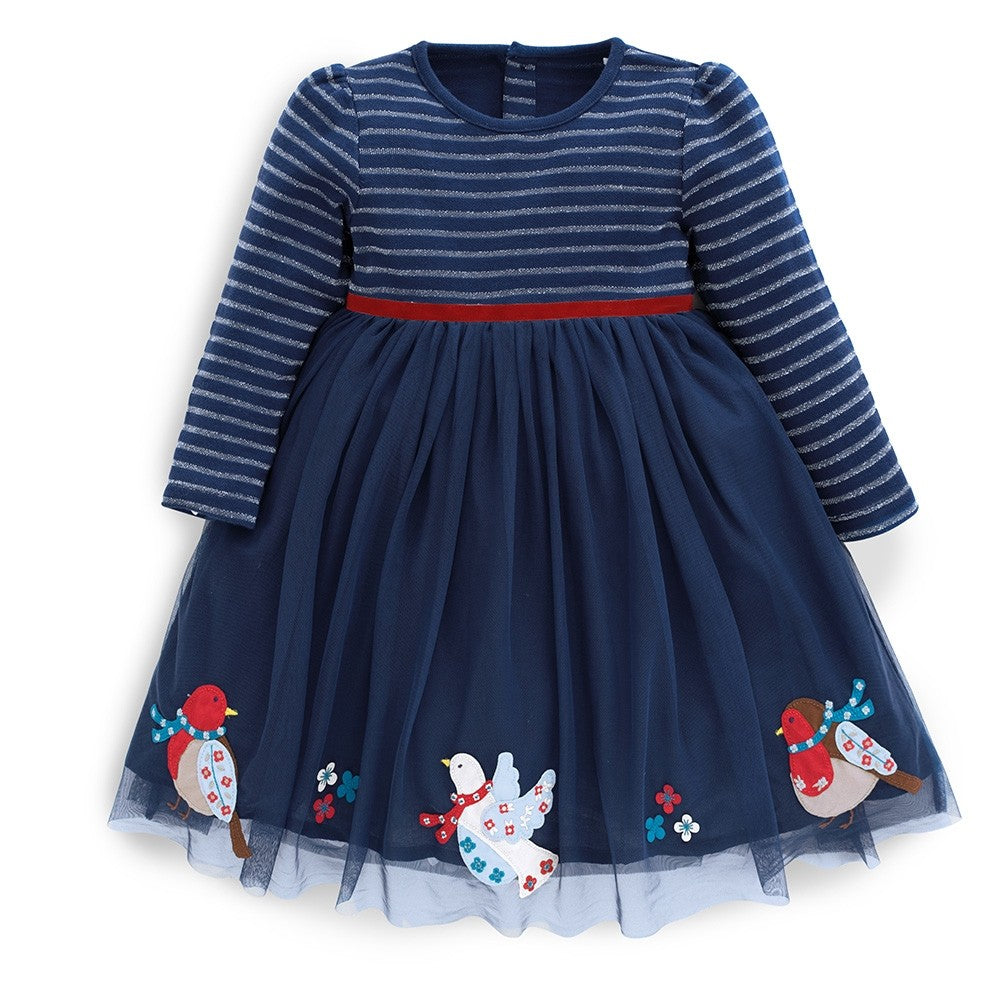 Robin Party Dress - JoJo Maman Bebe - joannas-cuties
