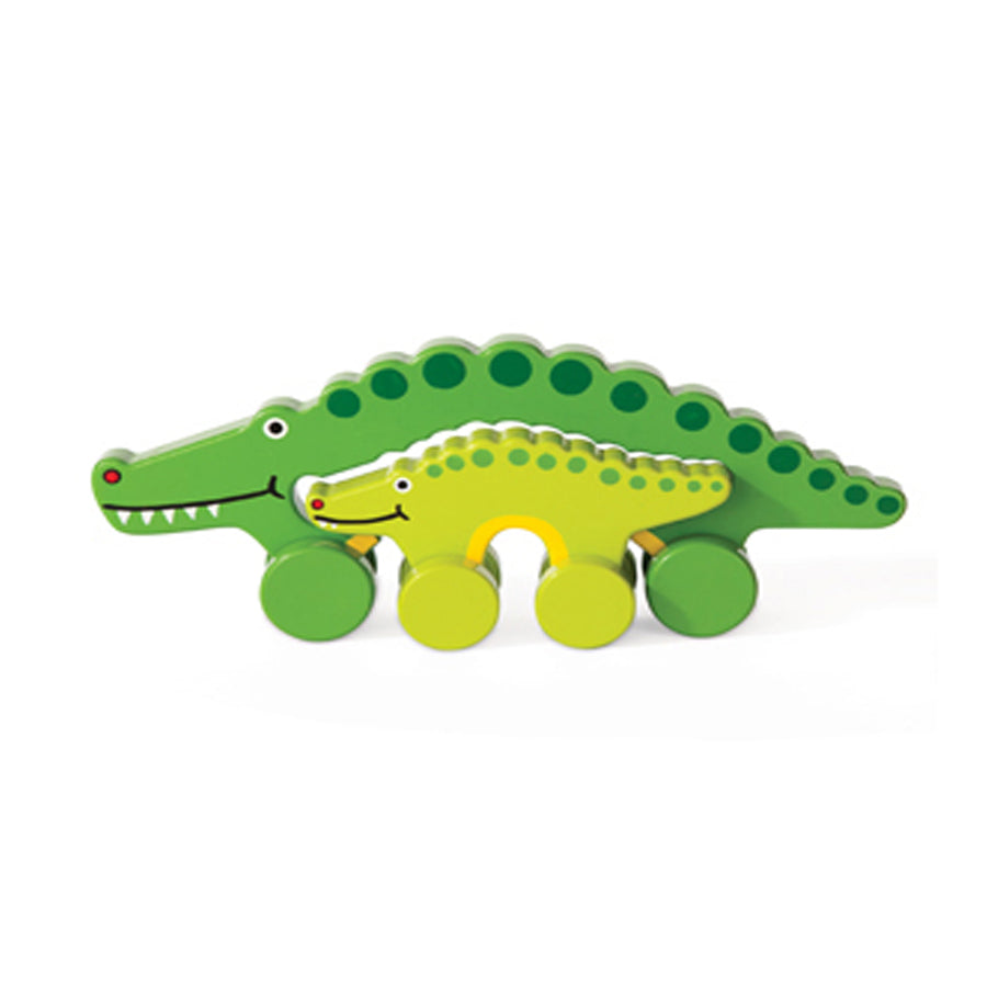 Gator Mommy And Baby Push Toy-Jack Rabbit Creations-Joanna's Cuties