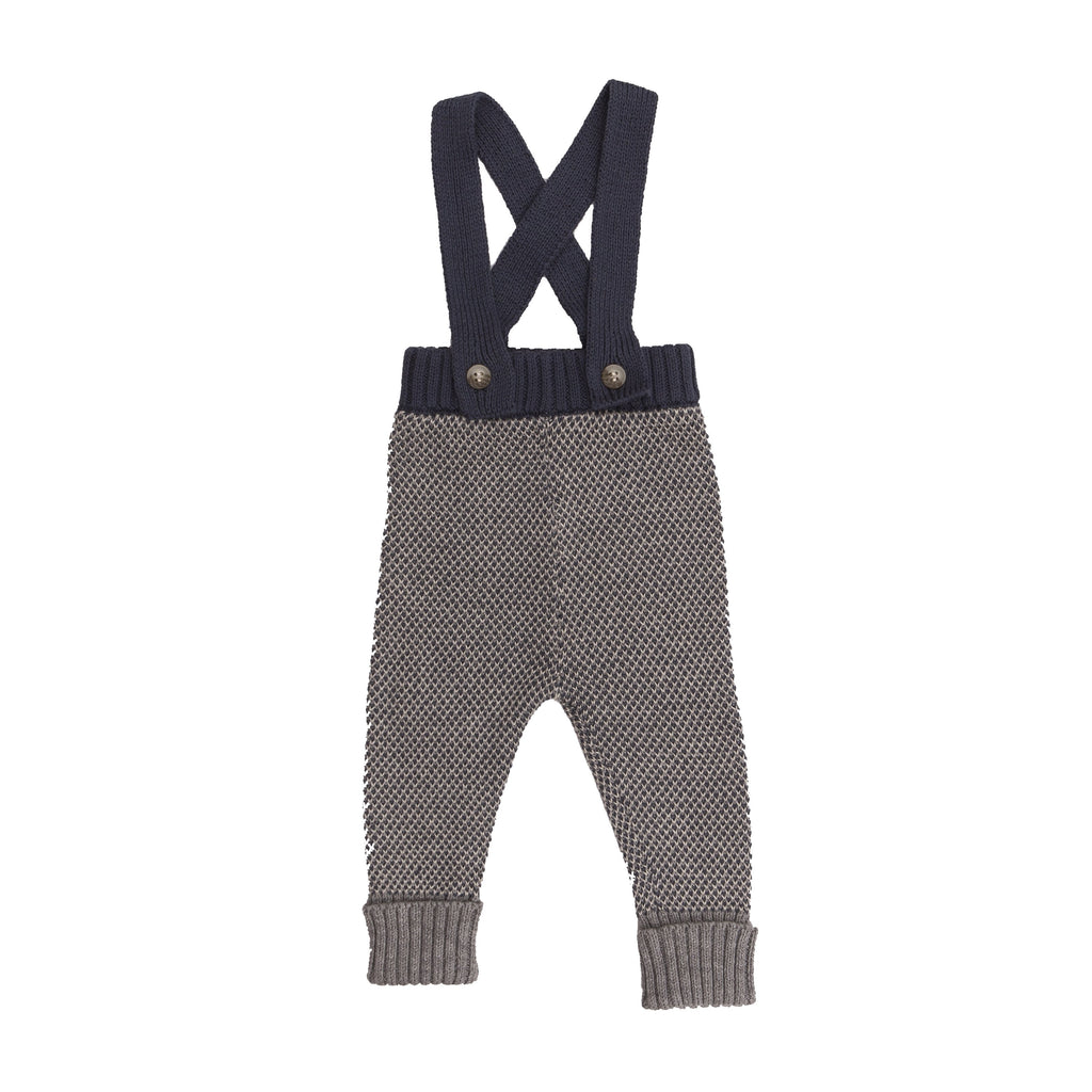 Romper With Straps - Blue Grey - Tun Tun - joannas-cuties